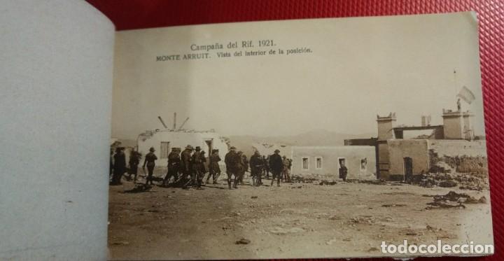 Postales: Recuerdo de la Campaña del Rif 1921, Serie VIII Monte Arruit. 10 postales. Postal Express Melilla. - Foto 7 - 166918860