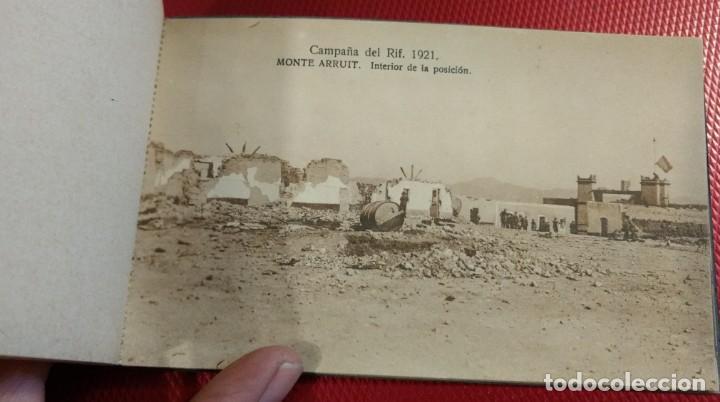 Postales: Recuerdo de la Campaña del Rif 1921, Serie VIII Monte Arruit. 10 postales. Postal Express Melilla. - Foto 8 - 166918860