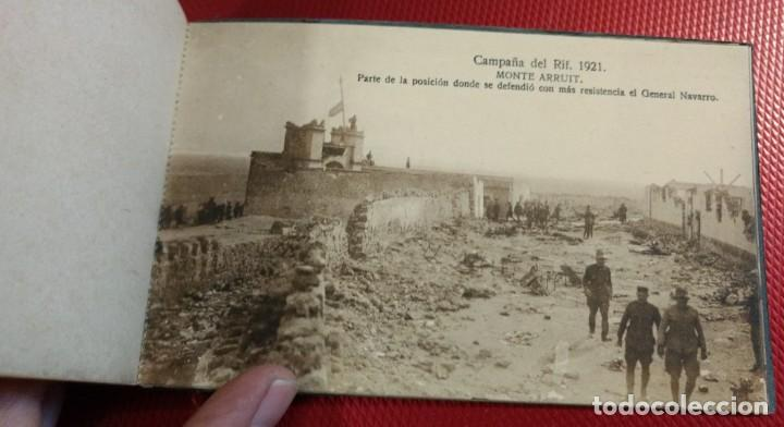 Postales: Recuerdo de la Campaña del Rif 1921, Serie VIII Monte Arruit. 10 postales. Postal Express Melilla. - Foto 9 - 166918860