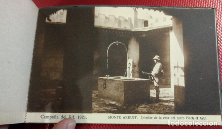 Postales: Recuerdo de la Campaña del Rif 1921, Serie VIII Monte Arruit. 10 postales. Postal Express Melilla. - Foto 10 - 166918860