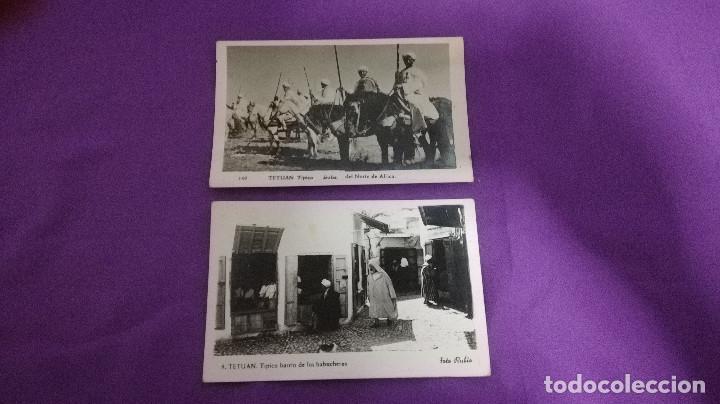 2-LOTE DE 2 POSTALES ANTIGUAS DE TETUAN 1957 (Postales - Postales Temáticas - Ex Colonias y Protectorado Español)