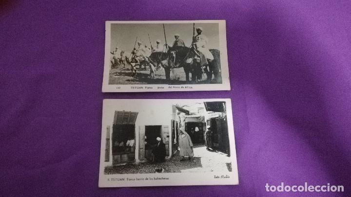 Postales: 2-LOTE DE 2 POSTALES ANTIGUAS DE TETUAN 1957 - Foto 2 - 170886225