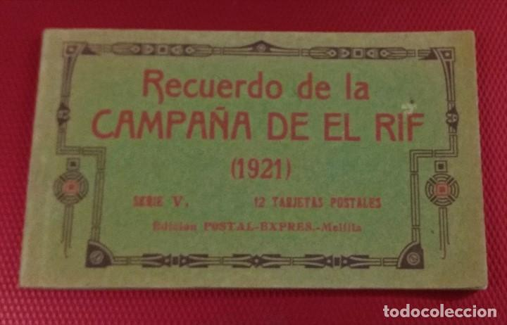 BLOCK RECUERDO DE LA CAMPAÑA DE EL RIF 1921 SERI V ATLATEN POSTAL EXPRES MELILLA 12 POSTALESCOMPLETA (Postales - Postales Temáticas - Ex Colonias y Protectorado Español)
