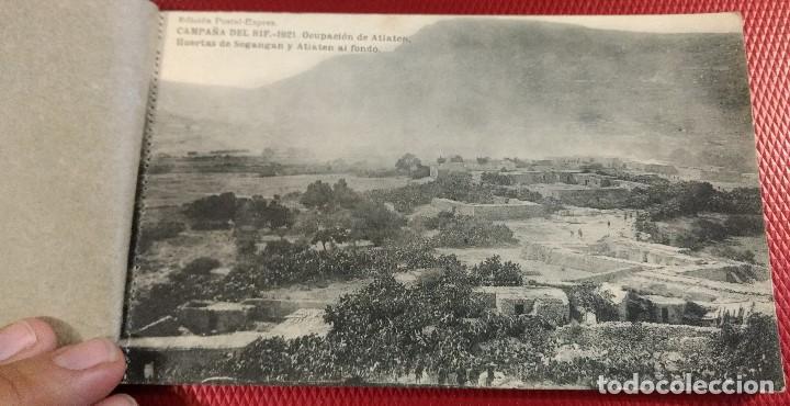Postales: Block Recuerdo de la Campaña de el Rif 1921 Seri V Atlaten Postal Expres Melilla 12 postalesCompleta - Foto 2 - 170959209