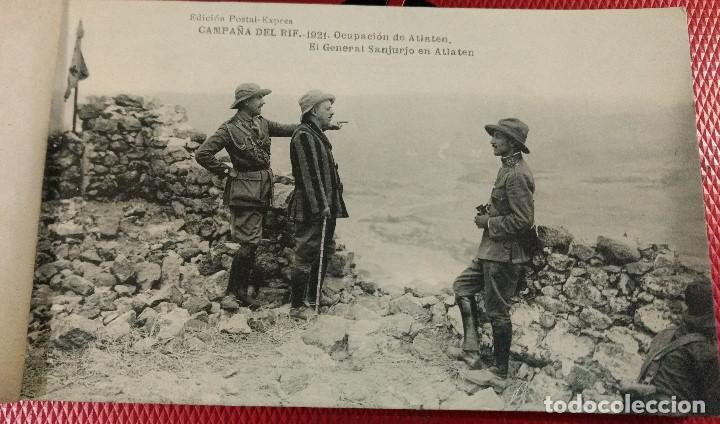Postales: Block Recuerdo de la Campaña de el Rif 1921 Seri V Atlaten Postal Expres Melilla 12 postalesCompleta - Foto 3 - 170959209