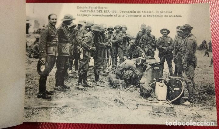 Postales: Block Recuerdo de la Campaña de el Rif 1921 Seri V Atlaten Postal Expres Melilla 12 postalesCompleta - Foto 4 - 170959209