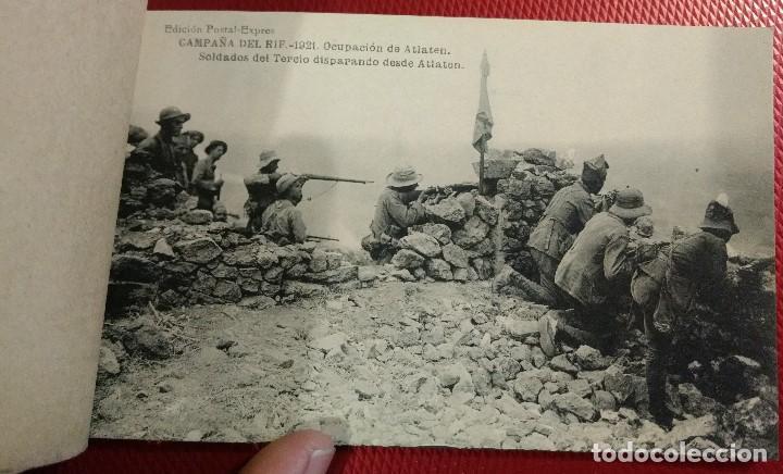 Postales: Block Recuerdo de la Campaña de el Rif 1921 Seri V Atlaten Postal Expres Melilla 12 postalesCompleta - Foto 5 - 170959209