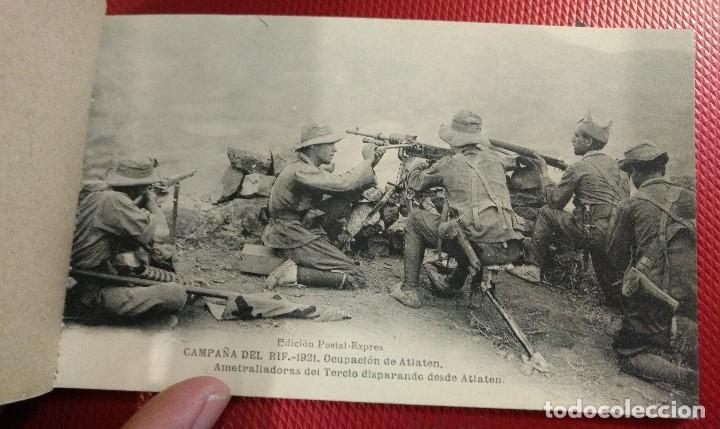 Postales: Block Recuerdo de la Campaña de el Rif 1921 Seri V Atlaten Postal Expres Melilla 12 postalesCompleta - Foto 6 - 170959209