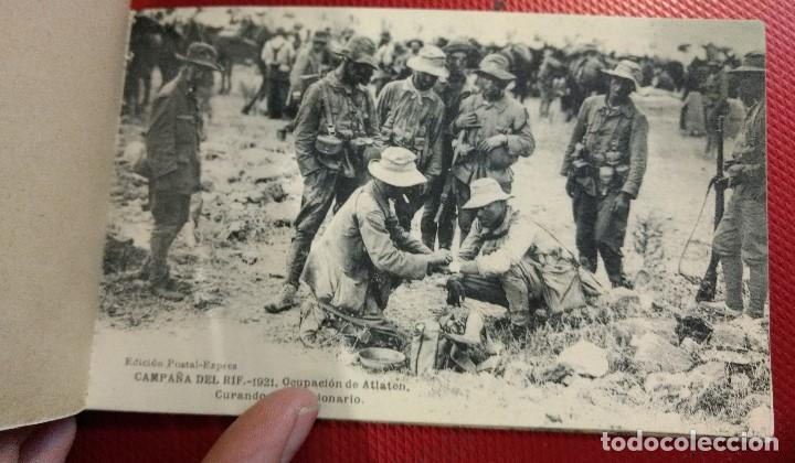 Postales: Block Recuerdo de la Campaña de el Rif 1921 Seri V Atlaten Postal Expres Melilla 12 postalesCompleta - Foto 7 - 170959209