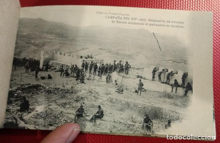 Postales: Block Recuerdo de la Campaña de el Rif 1921 Seri V Atlaten Postal Expres Melilla 12 postalesCompleta - Foto 8 - 170959209