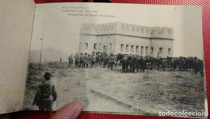 Postales: Block Recuerdo de la Campaña de el Rif 1921 Seri V Atlaten Postal Expres Melilla 12 postalesCompleta - Foto 9 - 170959209