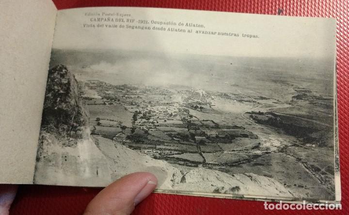 Postales: Block Recuerdo de la Campaña de el Rif 1921 Seri V Atlaten Postal Expres Melilla 12 postalesCompleta - Foto 10 - 170959209