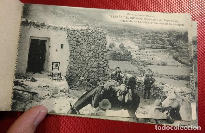 Postales: Block Recuerdo de la Campaña de el Rif 1921 Seri V Atlaten Postal Expres Melilla 12 postalesCompleta - Foto 11 - 170959209