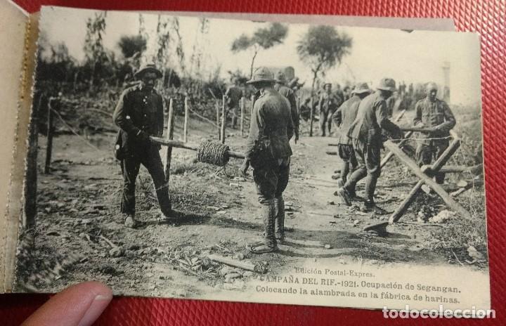 Postales: Block Recuerdo de la Campaña de el Rif 1921 Seri V Atlaten Postal Expres Melilla 12 postalesCompleta - Foto 12 - 170959209