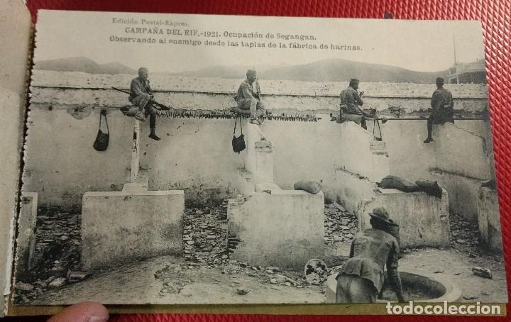 Postales: Block Recuerdo de la Campaña de el Rif 1921 Seri V Atlaten Postal Expres Melilla 12 postalesCompleta - Foto 13 - 170959209