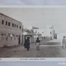 Postales: POSTAL VILLA BENS, AL FONDO COMANDANCIA MILITAR, FOTO HERNANDEZ GIL 1960. Lote 170974783