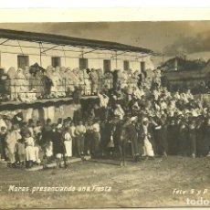 Postales: (PS-61242)POSTAL FOTOGRAFICA DE TETUAN-MOROS PRESENCIANDO UNA FIESTA. Lote 171044098