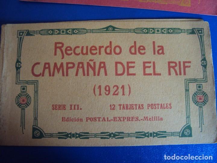 Postales: (PS-61406)LOTE DE 3 BLOCKS RECUERDO DE LA CAMPAÑA DE EL RIF MONTE ARRUIT 1921-SERIE III,VI Y VII - Foto 2 - 171243517