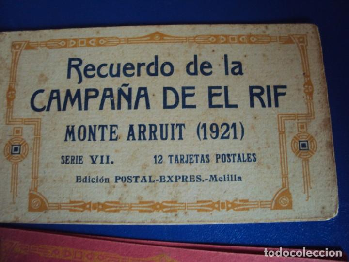 Postales: (PS-61406)LOTE DE 3 BLOCKS RECUERDO DE LA CAMPAÑA DE EL RIF MONTE ARRUIT 1921-SERIE III,VI Y VII - Foto 4 - 171243517