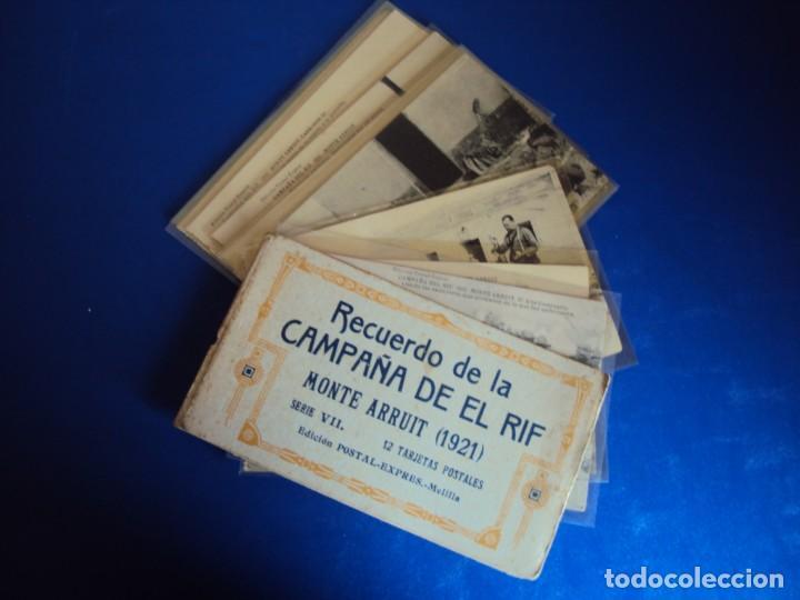 (PS-61407)BLOCK DE 12 POSTALES RECUERDO DE LA CAMPAÑA DE EL RIF-MONTE ARRUIT 1921 SERIE VII (Postales - Postales Temáticas - Ex Colonias y Protectorado Español)