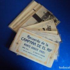 Postales: (PS-61407)BLOCK DE 12 POSTALES RECUERDO DE LA CAMPAÑA DE EL RIF-MONTE ARRUIT 1921 SERIE VII. Lote 171243599