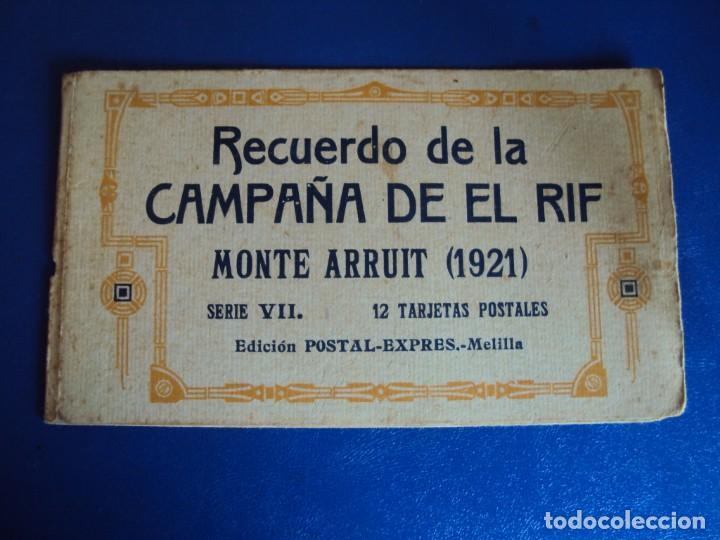 Postales: (PS-61407)BLOCK DE 12 POSTALES RECUERDO DE LA CAMPAÑA DE EL RIF-MONTE ARRUIT 1921 SERIE VII - Foto 2 - 171243599