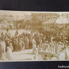Postales: TETUAN MARRUECOS ESPAÑOL POSTAL FOTOGRAFICA 1917 FIESTA MORA. Lote 171639782