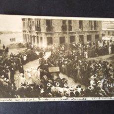 Postales: TETUAN MARRUECOS ESPAÑOL POSTAL FOTOGRAFICA 1917 LLEGADA DEL GENERAL JORDANA DESDE LARACHE. Lote 171639822
