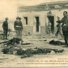 Postales: EXTRAORDINARIO DOCUMENTO ORIGINAL-1922---2 POSTALES-CAMPAÑA DEL RIF-MONTE ARRUIT-1921-. Lote 171654450