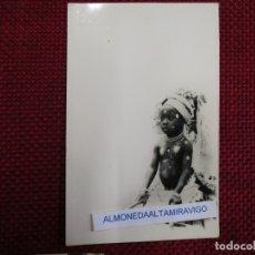 Postales: POSTAL FOTOGRAFICA GUINEA ECUATORIAL, NIÑO INDIGENA - Nº121, FOTO.CALIFORNIA BATA +. Lote 176028270