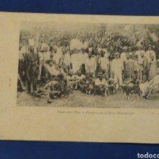 Postales: FERNANDO POO. BRACEROS DE LA FINCA MONTSERRAT. SIN CIRCULAR.. Lote 178045698