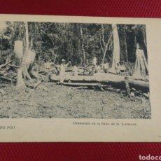 Postales: FERNANDO POO DESMONTE EN LA FINCA DE G. LUTTEROD. THOMAS 4 SERIE NUM 4.. Lote 178097732