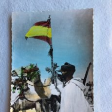 Postales: AAIUN SAHARA ESPAÑOL TROPAS DE POLICIA NÓMADA. Lote 178196732