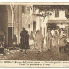 Postales: TETUÁN RINCÓN DEL BARRIO MORO M. ARRIBAS 1939 CIRCULADA. Lote 178287687