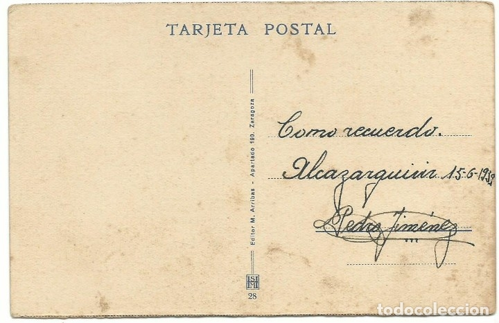 Postales: TETUÁN CALLE DEL BARRIO MORO M. ARRIBAS 1939 CIRCULADA - Foto 2 - 178289006