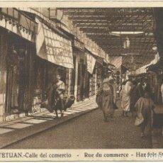 Postales: TETUÁN CALLE DEL COMERCIO M. ARRIBAS 1939 CIRCULADA. Lote 178289741