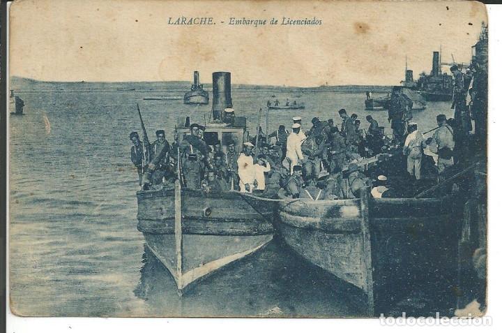 POSTAL LARACHE - EMBARQUE DE LICENCIADOS (Postales - Postales Temáticas - Ex Colonias y Protectorado Español)