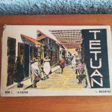 Postales: BLOC POSTAL TETUAN NÚM. 1 - 10 VISTAS FOT. L. ROISIN - MARRUECOS PROTECTORADO COLONIA. Lote 179219830