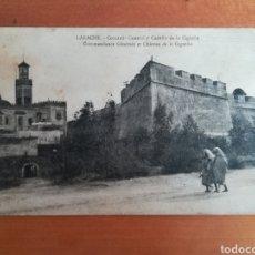Postales: POSTAL LARACHE COMANDANCIA GENERAL Y CASTILLO DE LA CIGÜEÑA - MARRUECOS. Lote 180171268