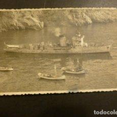 Postales: PEÑON DE ALHUCEMAS BARCO DE GUERRA DE LA ARMADA POSTAL FOTOGRAFICA. Lote 181927607