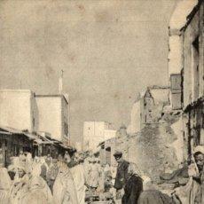 Cartes Postales: CPA UNIQUE MAROC CASABLANCA / RUE DU MARCHÉ /. Lote 182953315