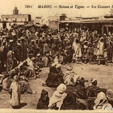 Postales: CPA MAROC - SCÈNES ET TYPES - UN CONCERT MAROCAIN. Lote 182958497