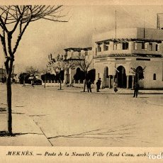 Postales: MOROCCO: MEKNES. - POSTE DE LA NOUVELLE VILLE (RENE CANU, ARCB.) - LL. Lote 182958731