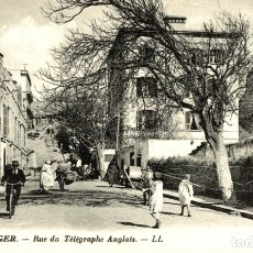 Postales: TANGER RUE DU TELEGRAPHE ANGLAIS TANGER TANGIER. Lote 182958822