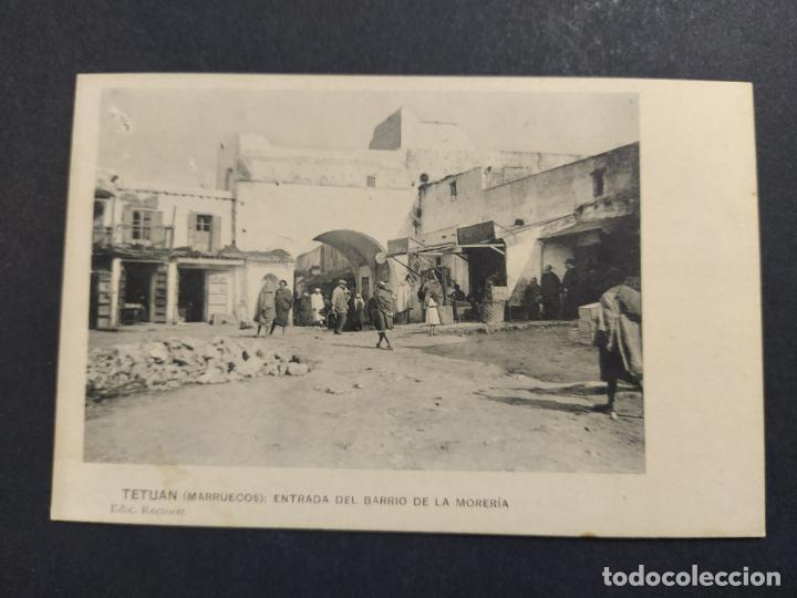 TETUAN-ENTRADA DEL BARRIO DE LA MORERIA-ED·RECTORET-POSTAL ANTIGUA-VER FOTOS-(64.367) (Postales - Postales Temáticas - Ex Colonias y Protectorado Español)