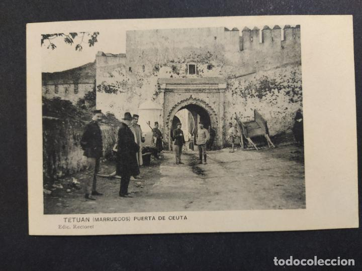 TETUAN-PUERTA DE CEUTA-ED·RECTORET-POSTAL ANTIGUA-VER FOTOS-(64.368) (Postales - Postales Temáticas - Ex Colonias y Protectorado Español)