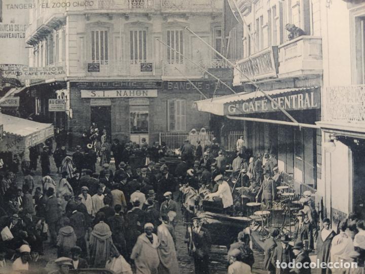 Postales: TANGER-EL ZOCO CHICO-CAFE CENTRAL, BANCO, RESTAURANTE...-HAUSER Y MENET-POSTAL ANTIGUA-(64.482) - Foto 2 - 183856667