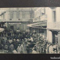 Postales: TANGER-EL ZOCO CHICO-CAFE CENTRAL, BANCO, RESTAURANTE...-HAUSER Y MENET-POSTAL ANTIGUA-(64.482). Lote 183856667