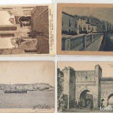 Postales: MARRUECOS. LOTE DE CINCO POSTALES DE TANGER.. Lote 184074496