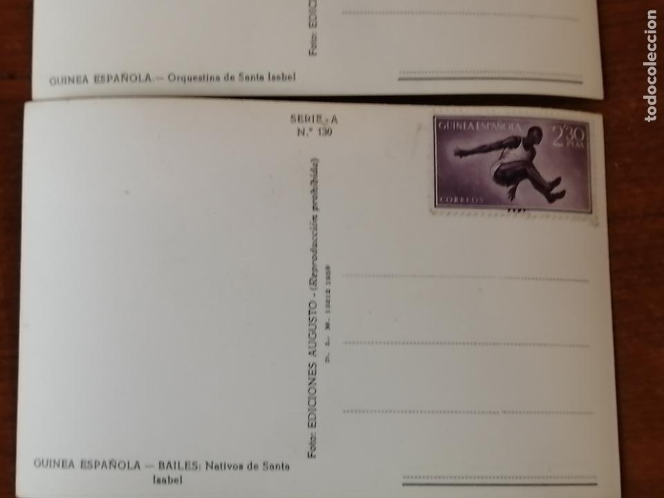 Postales: FOTO POSTAL LOTE 2 GUINEA ESPAÑOLA. Orquestina de Santa Isabel i bailes nativos de Santa Isabel - Foto 5 - 194006470